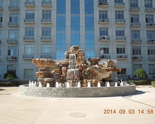 秦皇岛军分区假山喷泉