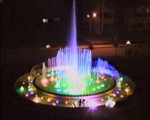 洛阳电厂喷泉夜景