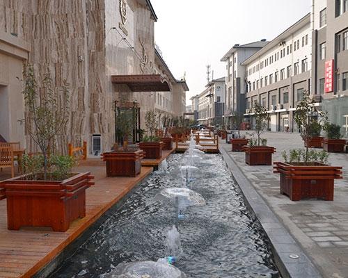 任丘时代天街彩色喷泉工程