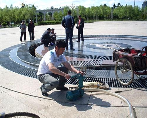 广场喷泉维修