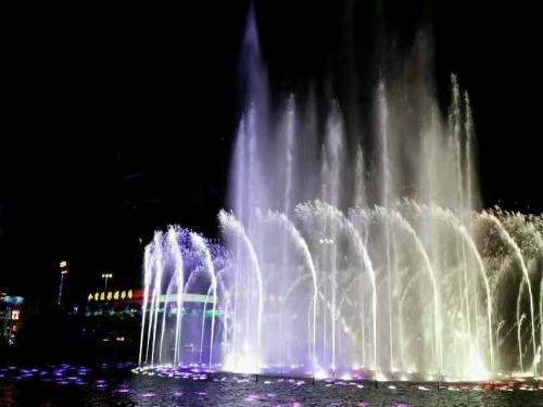 兰州水幕喷泉